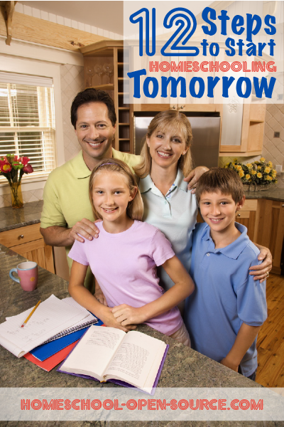 12 Steps to Start Homeschooling Tomorrow